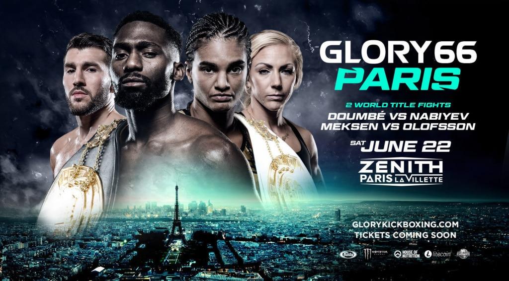 Glory 66, le championnat de Kick Boxing le 22 juin au Zenith de Paris