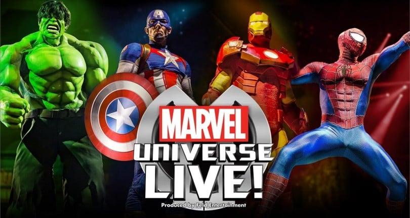 Marvel Universe Live du 18 au 20 octobre à Paris